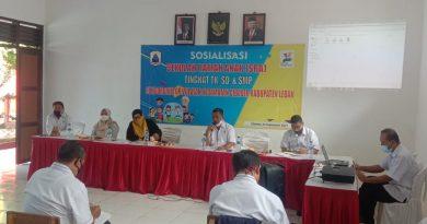 Dinas Pendidikan dan KPAI Kabupaten Lebak Laksanakan Sosialisasi Sekolah Ramah Anak.